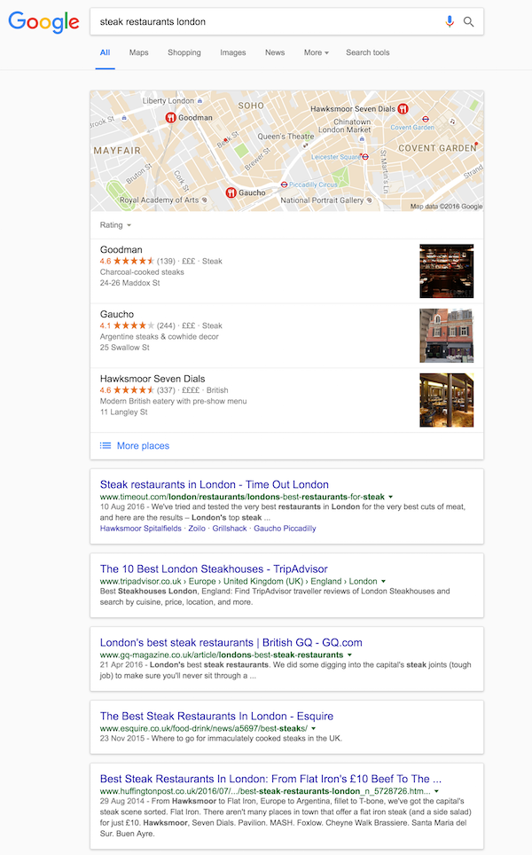 steak-restaurants-london-google-search