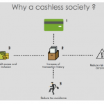 How can cashless transactions help an economy?