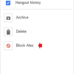 How to Block a Contact on Google Hangouts