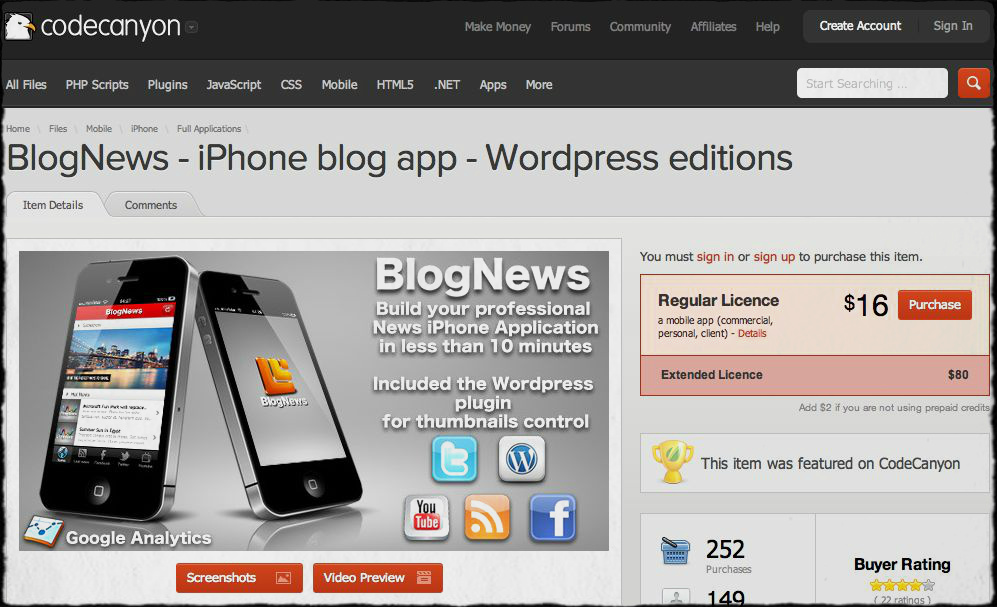 BlogNews-iphone-blog-app